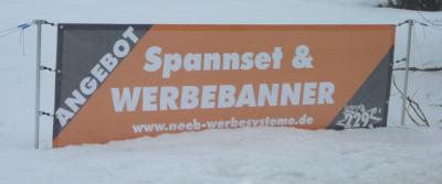 Spannset + Banner 4000 x 1000 mm