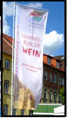 Werbebanner Fahne mit Digitaldruck auf Fahnenstoff